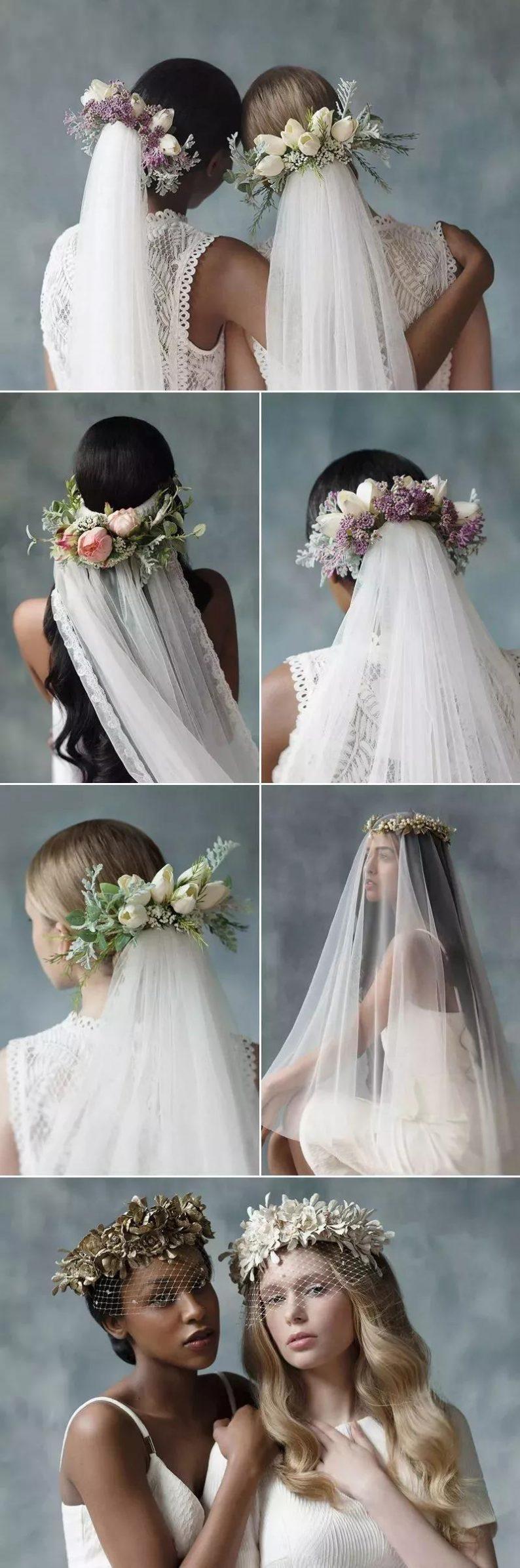 美出画的婚纱头纱,助你惊艳婚礼现场!  第16张
