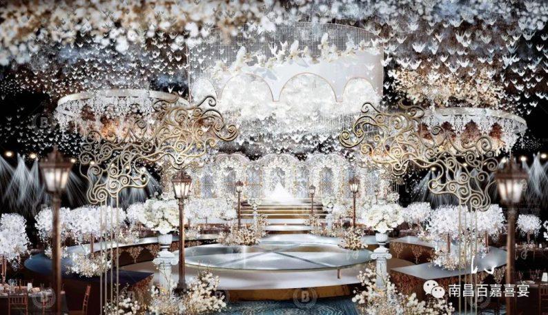 婚礼堂发布:12个百万级风格宴会厅!百嘉喜宴婚礼综合体启幕  第5张