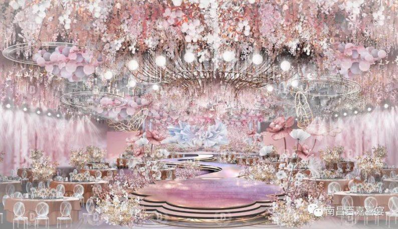 婚礼堂发布:12个百万级风格宴会厅!百嘉喜宴婚礼综合体启幕  第10张