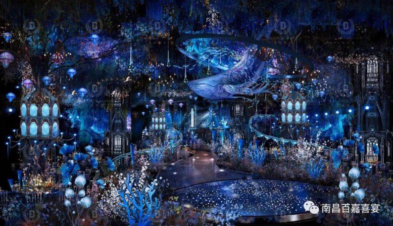 婚礼堂发布:12个百万级风格宴会厅!百嘉喜宴婚礼综合体启幕  第15张