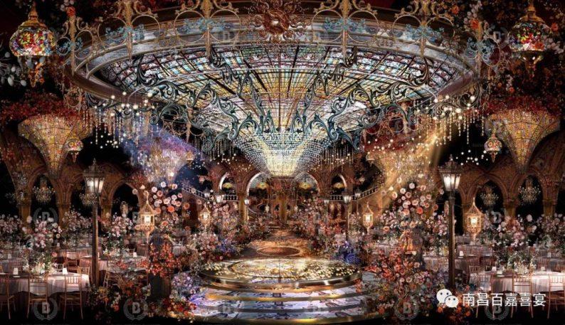 婚礼堂发布:12个百万级风格宴会厅!百嘉喜宴婚礼综合体启幕  第26张