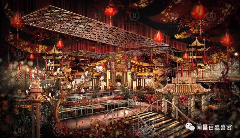 婚礼堂发布:12个百万级风格宴会厅!百嘉喜宴婚礼综合体启幕  第39张