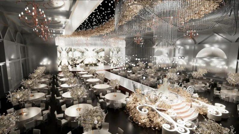 """婚礼堂发布:玺悦打造""""百万级""""十米挑高无柱宴会厅  第4张"""
