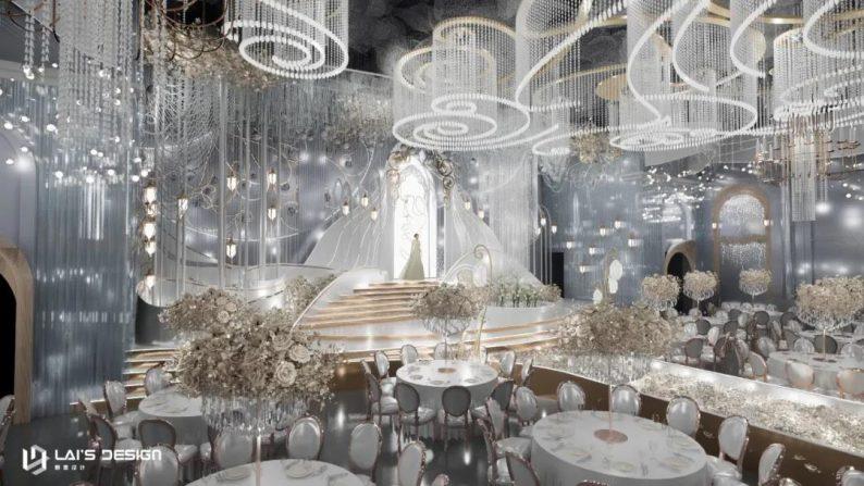 """婚礼堂发布:玺悦打造""""百万级""""十米挑高无柱宴会厅  第7张"""