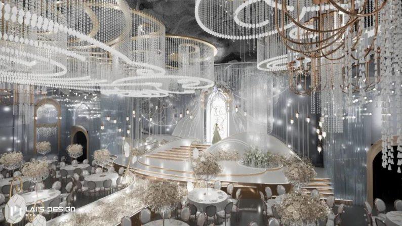 """婚礼堂发布:玺悦打造""""百万级""""十米挑高无柱宴会厅  第8张"""