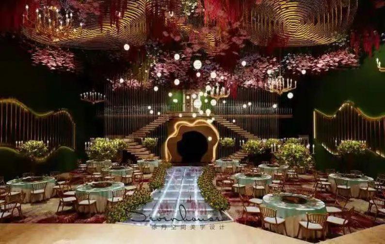 婚礼堂发布:徐丹又一力作!喜宴楼连开两店,打造百万婚礼殿堂  第13张