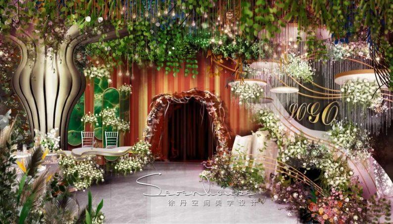 婚礼堂发布:徐丹又一力作!喜宴楼连开两店,打造百万婚礼殿堂  第14张