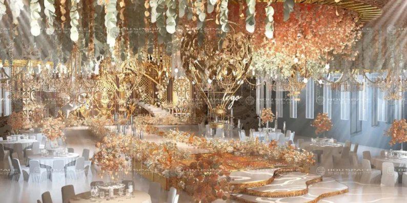 婚礼堂发布:3大主题宴会厅!七七喜堂打造全新婚礼概念基地  第5张
