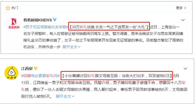 每年都要上热搜!《广东结婚礼金排行榜》出炉  第10张