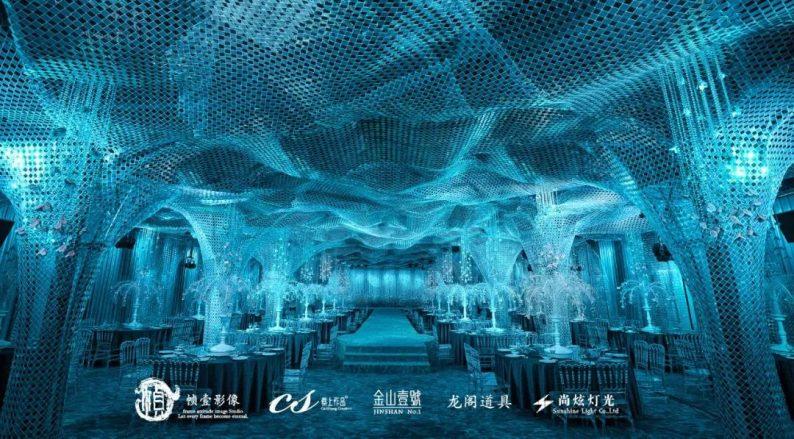 婚礼堂发布:蔡上作品,镇江首家百万级婚礼宴会厅  第5张
