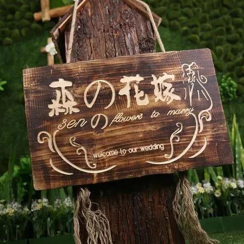 8个高颜值婚礼迎宾牌创意  第9张