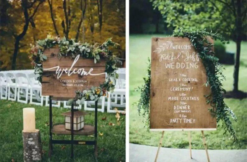 8个高颜值婚礼迎宾牌创意  第12张