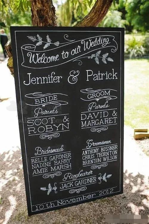 8个高颜值婚礼迎宾牌创意  第21张