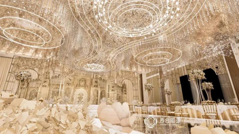 婚礼堂发布:斥资百万打造!天津4000平婚礼圣殿  第7张