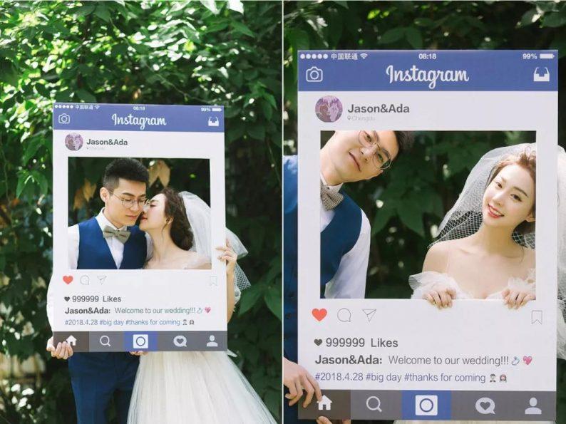 刷爆朋友圈!实用、有趣的婚礼拍照道具  第5张