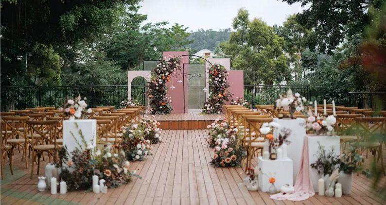 婚礼堂发布:半山秘境中的婚礼伊甸园  第7张