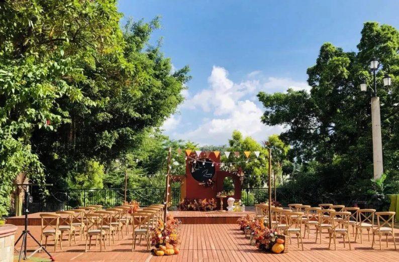 婚礼堂发布:半山秘境中的婚礼伊甸园  第12张