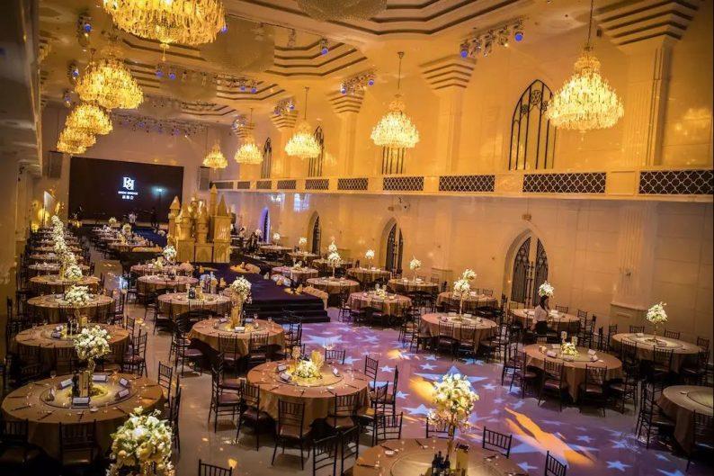 婚礼堂发布:6大主题宴会厅!格莱美杭州湾店,独家室内花园  第2张