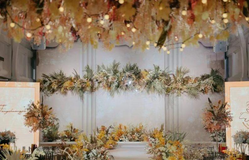 婚礼堂发布:6大主题宴会厅!格莱美杭州湾店,独家室内花园  第10张