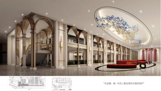 婚礼堂发布:总面积3.2万平!金塘胜宴打造地标性宴会酒店  第4张