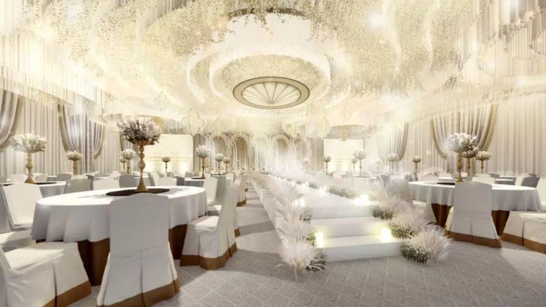 婚礼堂发布:全新风格宴会厅,备受新人瞩目  第10张