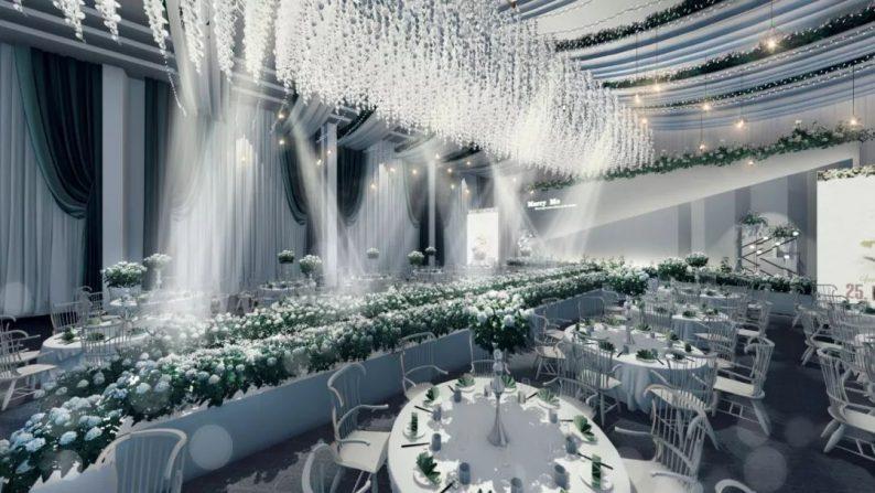 婚礼堂发布:全新风格宴会厅,备受新人瞩目  第11张