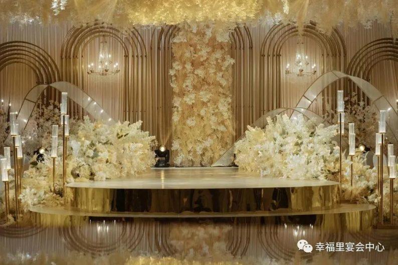 婚礼堂发布:幸福里宴会中心,打造1000平轻奢花园式宴会厅