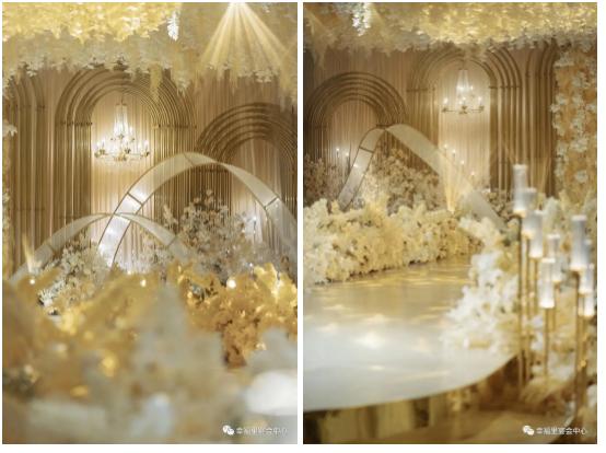 婚礼堂发布:幸福里宴会中心,打造1000平轻奢花园式宴会厅  第4张
