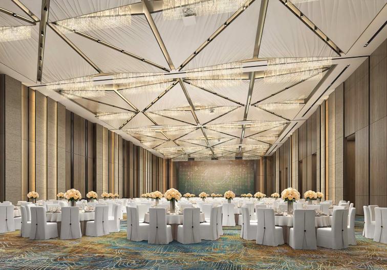 婚礼堂发布:总投资8亿、4.5万平!福州万豪酒店正式营业  第14张