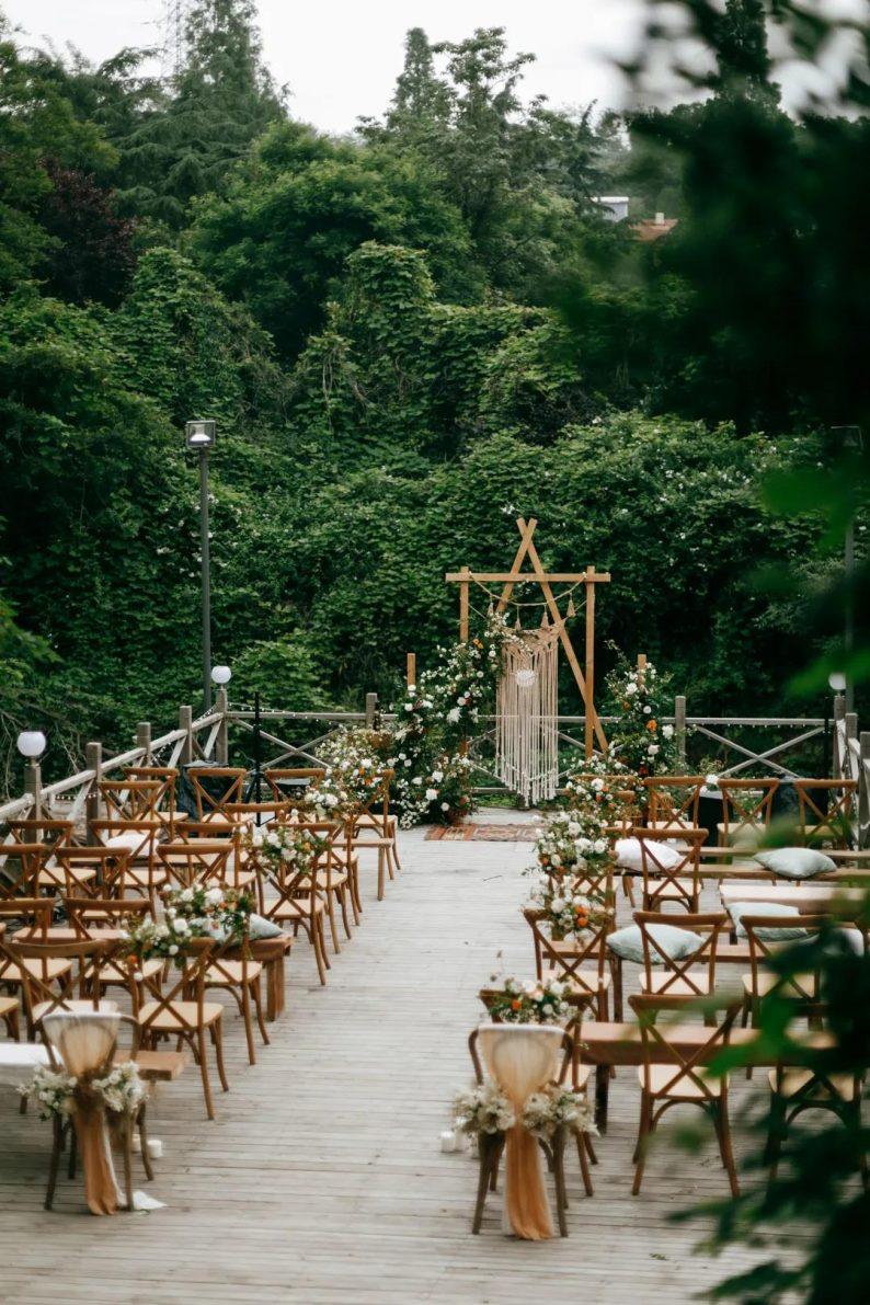 花漾婚礼堂:岛城首个湖畔&木屋婚礼场地  第3张