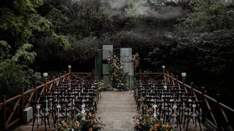 花漾婚礼堂:岛城首个湖畔&木屋婚礼场地  第17张