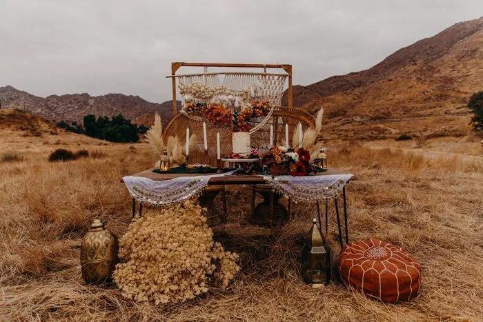 7种沙漠婚礼配色指南,找到适合你的沙漠风情!  第1张