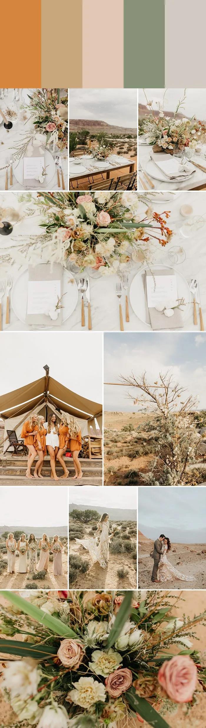 7种沙漠婚礼配色指南,找到适合你的沙漠风情!  第3张