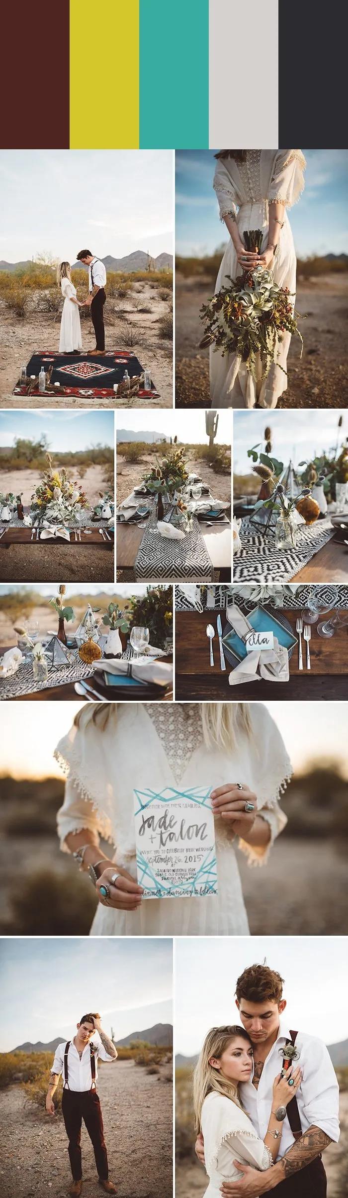 7种沙漠婚礼配色指南,找到适合你的沙漠风情!  第4张