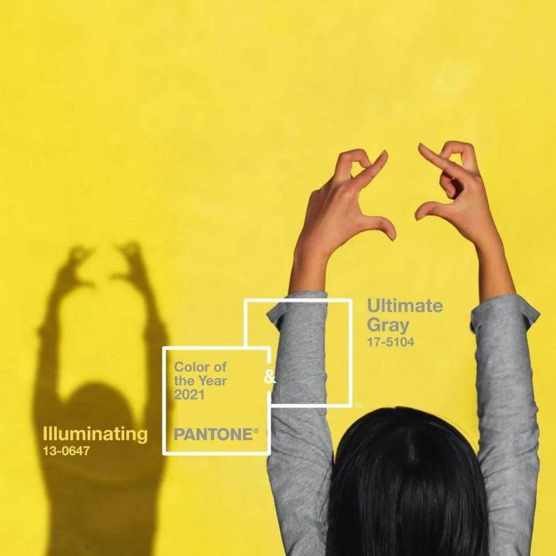 潘通发布!2021年年度双流行色:亮丽黄和极致灰  第2张