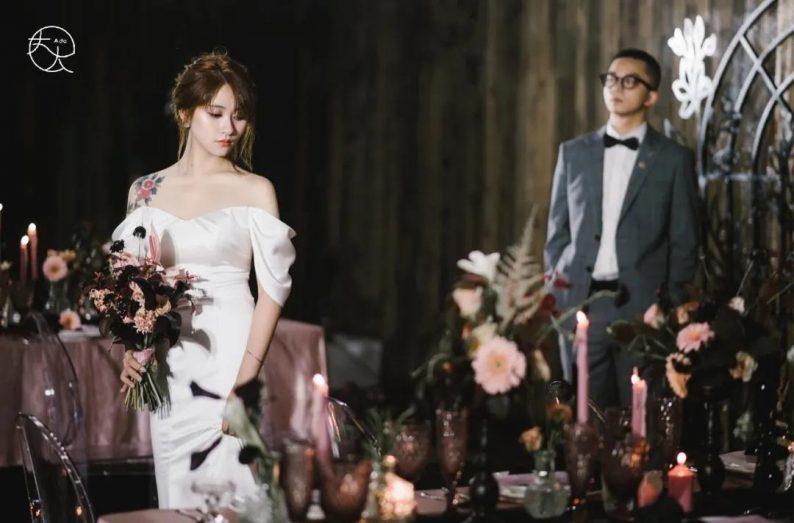 火遍抖音小红书!高逼格还自带艺术气息的超小众婚礼现场  第14张