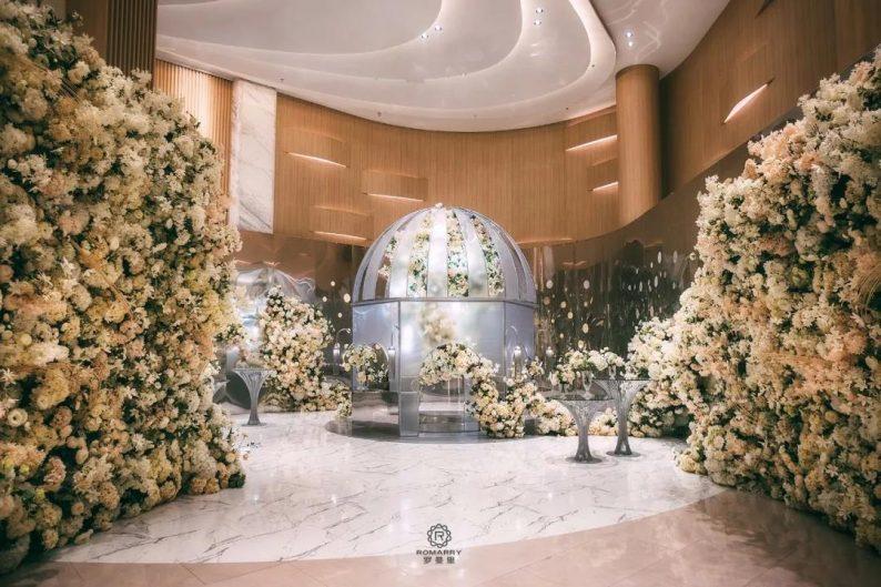 婚礼堂发布:沉浸式浪漫,罗曼里新厅闪耀发布!  第3张