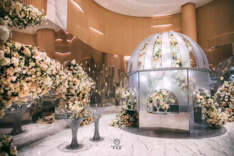 婚礼堂发布:沉浸式浪漫,罗曼里新厅闪耀发布!  第4张
