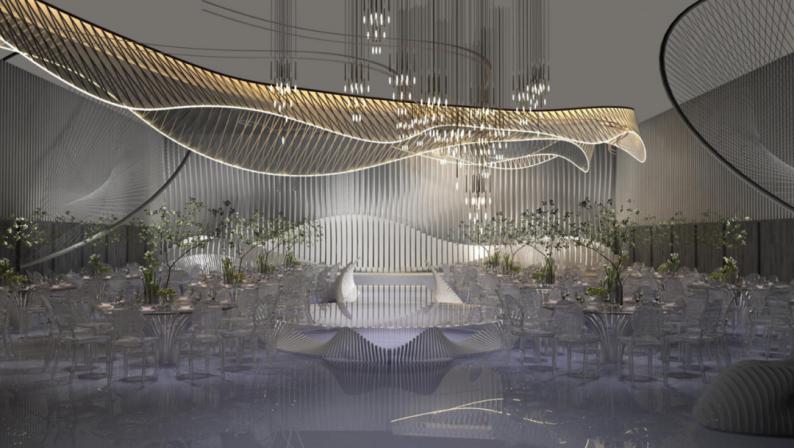 高定婚礼堂!艾恩艺术中心三元桥店正式亮相  第12张