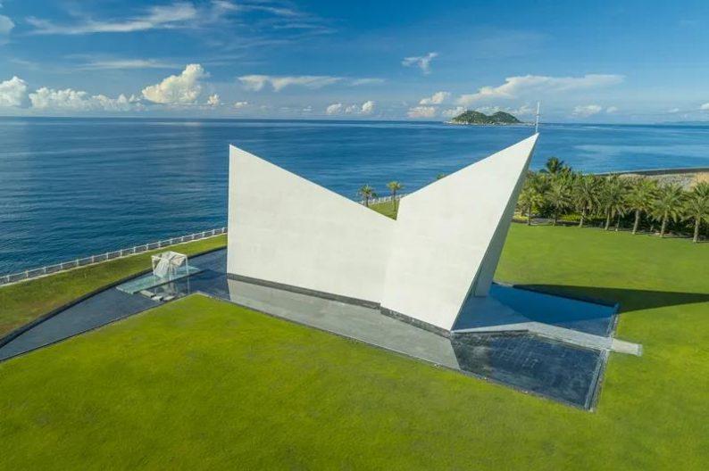 婚礼堂发布:全国唯一热带临海教堂!日月湾海岛婚礼艺术中心  第6张
