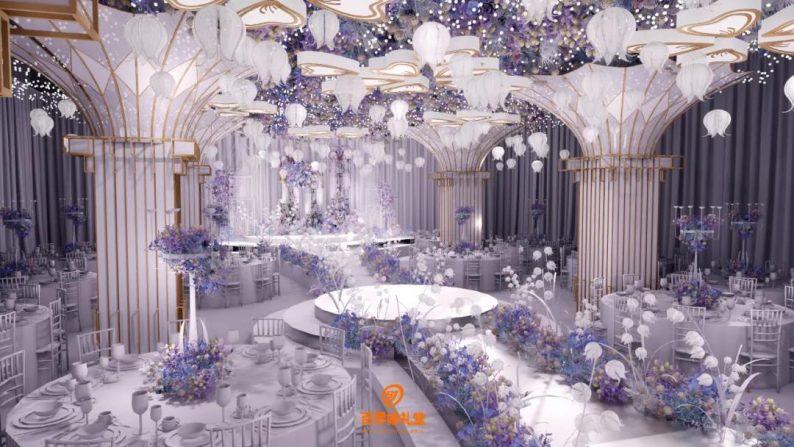 婚礼堂发布:百界倾力打造!占地8000平,七大主题宴会厅  第25张
