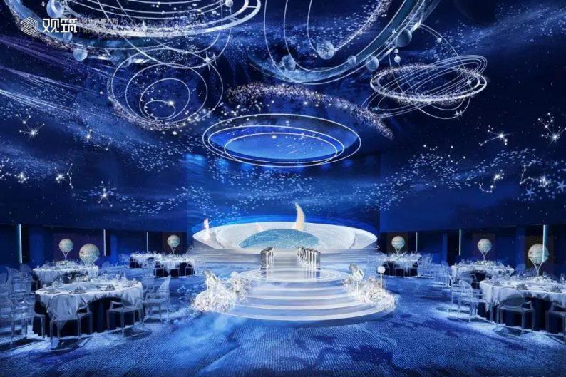 婚礼堂发布:6大宴会厅!观筑设计呈现无锡首家全品类婚礼艺术中心  第5张