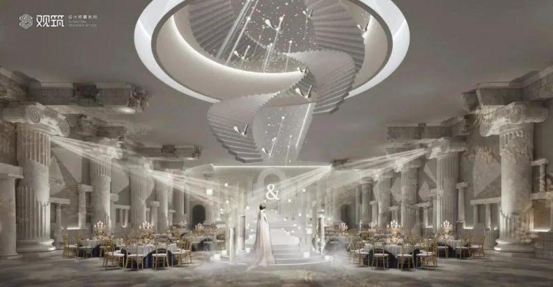 婚礼堂发布:6大宴会厅!观筑设计呈现无锡首家全品类婚礼艺术中心  第11张