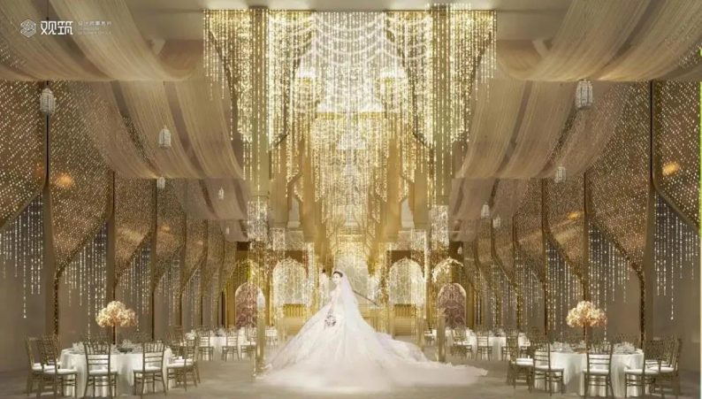 婚礼堂发布:6大宴会厅!观筑设计呈现无锡首家全品类婚礼艺术中心  第14张
