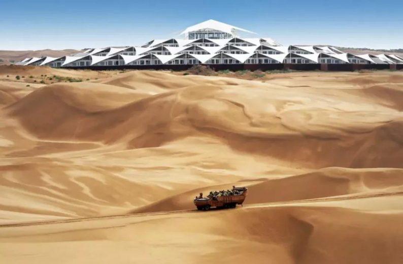 世界最美的建筑:中国响沙湾莲花酒店!  第4张