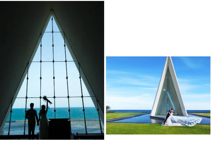 婚礼堂发布:全国唯一热带临海教堂!日月湾海岛婚礼艺术中心  第3张