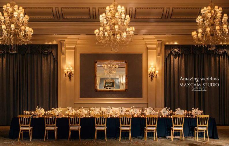 仪式展区+4大宴会展区!美薇亭打造华丽欧式风静态婚礼展