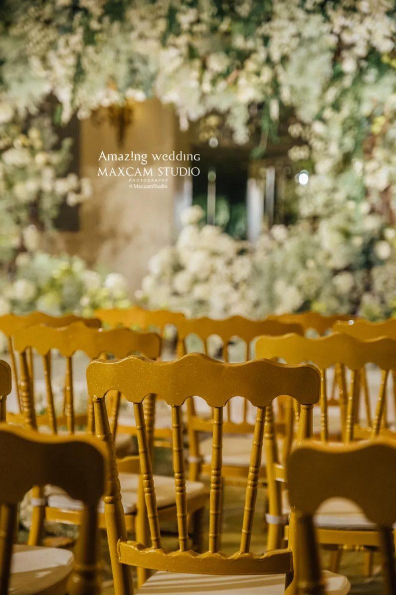仪式展区+4大宴会展区!美薇亭打造华丽欧式风静态婚礼展  第4张