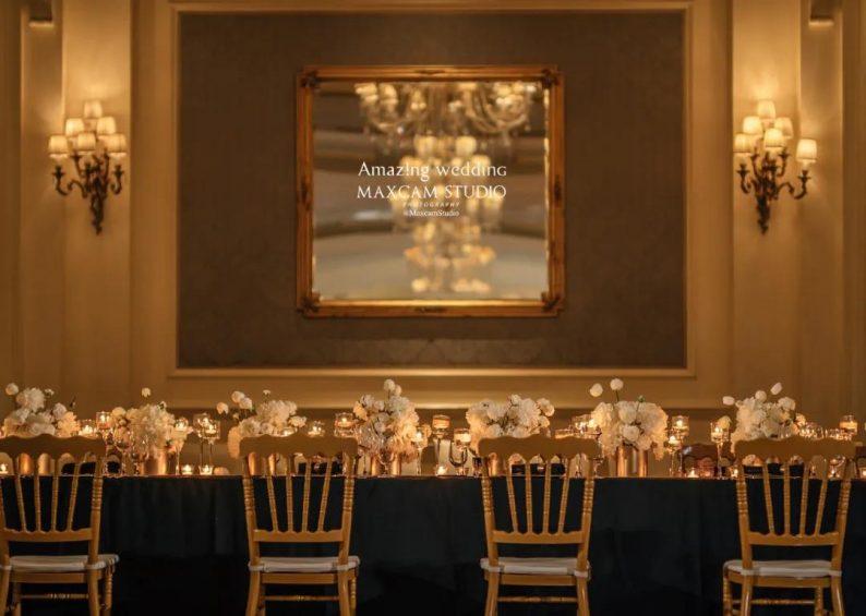 仪式展区+4大宴会展区!美薇亭打造华丽欧式风静态婚礼展  第5张