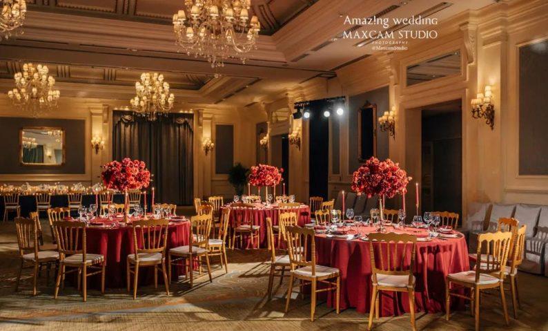 仪式展区+4大宴会展区!美薇亭打造华丽欧式风静态婚礼展  第7张